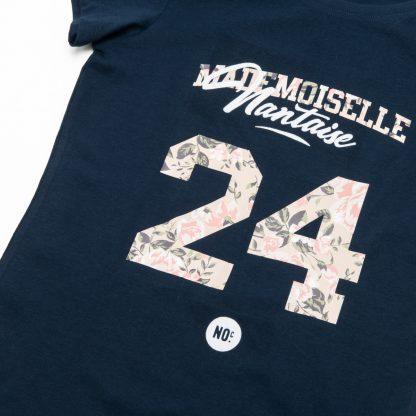 T-Shirt Nantes - Mademoiselle Nantaise 24 - Femme - Bleu/Rose - Détail