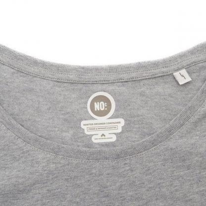 T-Shirt Nantes - Nantes Crew - Femme - Bleu/Gris - Col