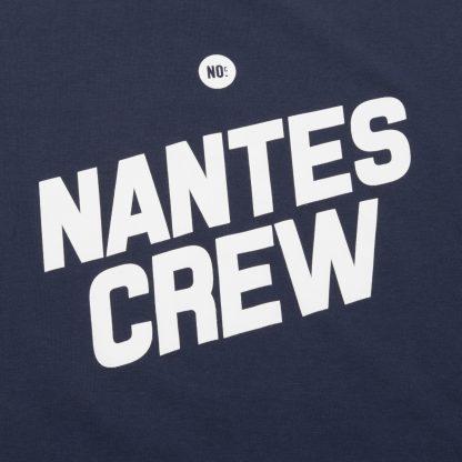 T-Shirt Nantes - Nantes Crew - Femme - Bleu/Blanc - Détail
