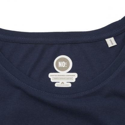 T-Shirt Nantes - Nantes Crew - Femme - Bleu/Blanc - Col