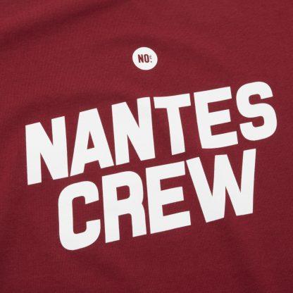 T-Shirt Nantes - Nantes Crew - Femme - Bordeaux/Blanc - Détail