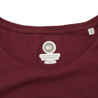 T-Shirt Nantes - Nantes Crew - Femme - Bordeaux/Blanc - Col