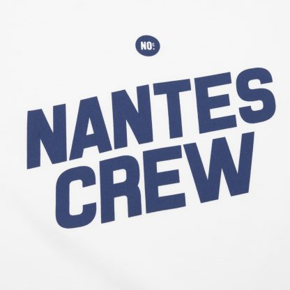 T-Shirt Nantes - Nantes Crew - Femme - Blanc/Bleu - Détail