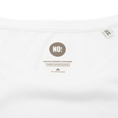 T-Shirt Nantes - Nantes Crew - Femme - Blanc/Bleu - Col