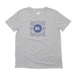 T-Shirt Nantes - Made in Nantes - Homme - Gris/Bleu - Face