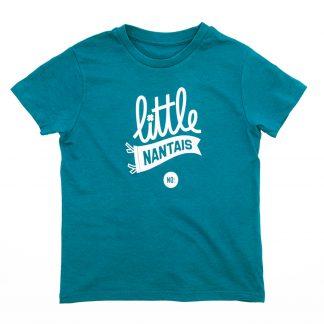 T-Shirt Nantes - Little Nantais - Enfant - Vert/Blanc - Détail