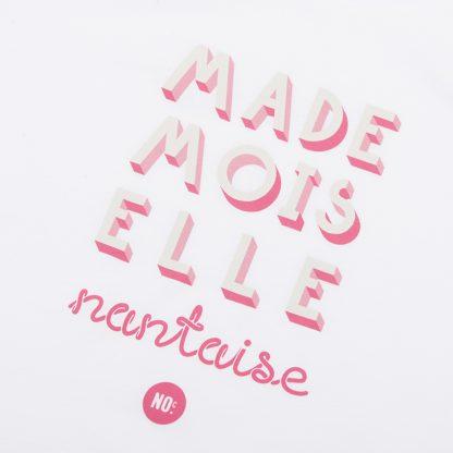 T-Shirt Nantes - Mademoiselle Nantaise - Femme - Blanc/Rose - Détail