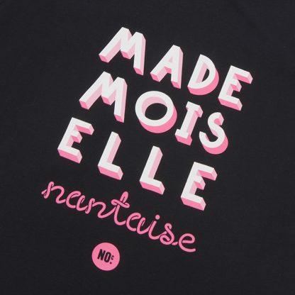 T-Shirt Nantes - Mademoiselle Nantaise - Femme - Noir/Rose - Détail