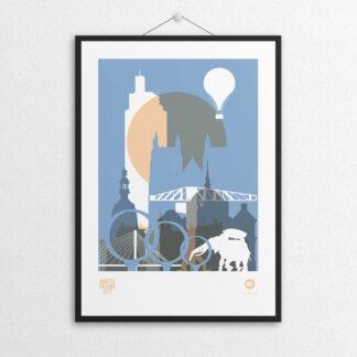 Affiche NOc NANTES CITY - Bleu