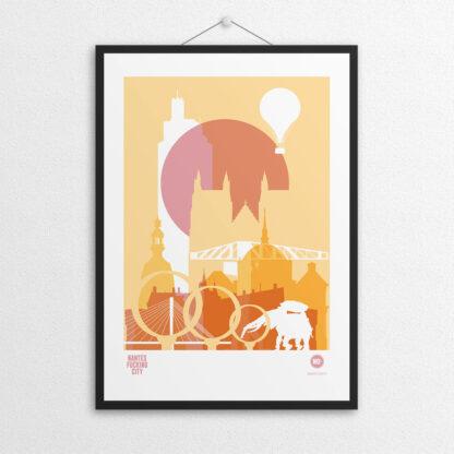 Affiche NOc NANTES CITY - Jaune
